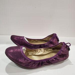 Cole Haan purple sparkle flats Maria Sharapova